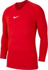 Nike Park First Layer Shirt Lange Mouw - Rood | Maat: XL