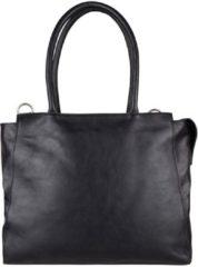 Zwarte Cowboysbag Evi Schoudertas 15,6 inch Laptoptas - Black