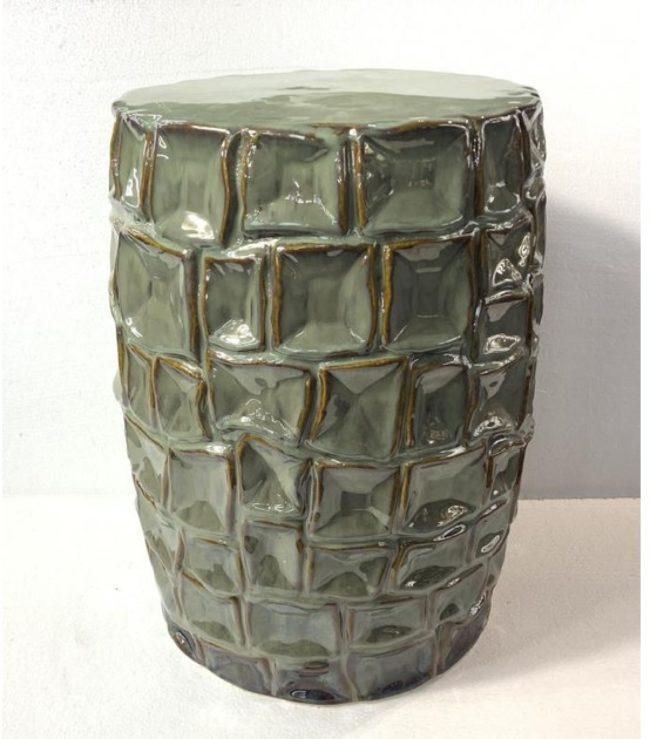 Afbeelding van Fine Asianliving Keramiek Kruk Porselein Bijzettafel Handgemaakt 33x45cm Chinese Meubels Oosterse Kast