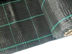 Zwarte Agrosol Campingdoek - Gronddoek - Worteldoek 2,10M X 3M totaal 6,3M² + 15 GRATIS grondpennen. Hoge kwaliteit, lucht en water doorlatend.