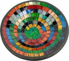 Fairtrade uit Indonesie Kom Mozaïek Regenboogkleuren (28 cm)