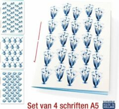 Rode De Kaartenmakers Schriften Hollands Glorie A5 - 4 stuks