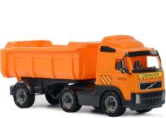 Merkloos / Sans marque Speelgoed oranje kiepwagen auto voor jongens 59 cm - Buiten/binnen speelgoed auto's - Vrachtwagen met laadklep/oplegger