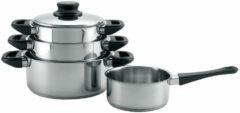 Zilveren Imperial Kitchen Kookset 4dlg RVS bakeliet grp
