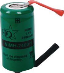 Groene HQ Fixapart NIMH-2400/1 Nikkel Metaal Hydride 2400mAh 1.2V oplaadbare batterij/accu