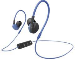 Blauwe Hama Active BT Bluetooth® (1075101) Sports In-ear headphones In-ear Headset, Volume control, Sweat-resistant Blue