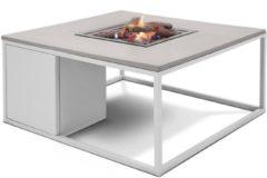 Cosi Fires Cosi lounge vuurtafel 100x100 cm - wit/grijs