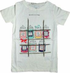 Witte Name it Meisjes T-shirt Maat 122/128