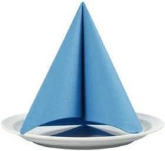 Creotime Servetten, turquoise, afm 40x40 cm, 60 gr, 20stuks