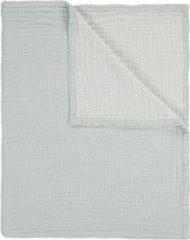 Blauwe Essenza Melsi - Plaid - 150x200 cm - Iceblue