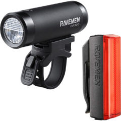 Rode Ravemen LS-CT02 fietsverlichting set combi voordeelpack van LR500S koplamp + TR20 achterlicht - USB oplaadbaar