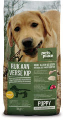 Pets Place Naturals Puppy  Small Breed Kip - Hondenvoer - 3 kg - Hondenvoer