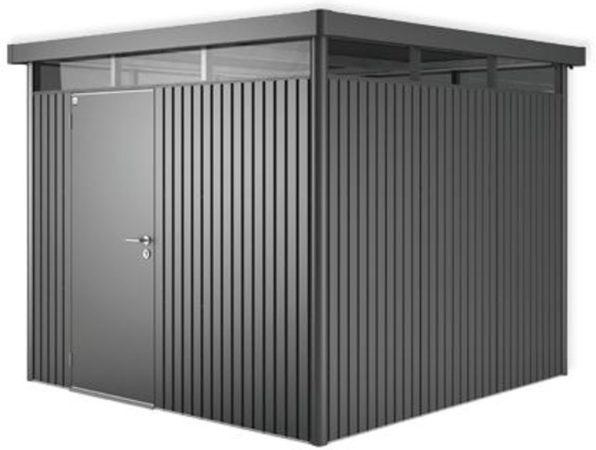 Afbeelding van Grijze Biohort Highline H4 donkergrijs metallic 1 deurs - 275 x 275 x 222 cm