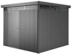 Grijze Biohort Highline H4 donkergrijs metallic 1 deurs - 275 x 275 x 222 cm