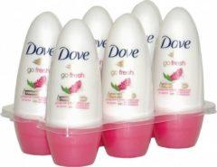 Dove Deo Roller Go Fresh Granaatappel - Voordeelverpakking 6 Stuks