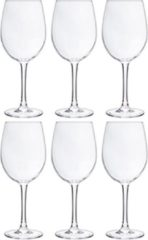 Transparante Cosy&Trendy Cosy Moments witte wijnglas - 36 cl - set van 6