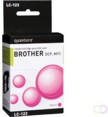 Inkcartridge Quantore Brother LC-123 rood
