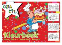 CreaKit Crea-kit Kleurboek Junior A4 Papier Wit/rood 24 Kleurplaten