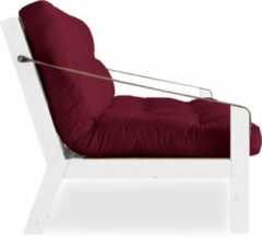 Bordeauxrode Karup Poetry Sofabed White Bordeaux