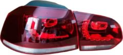 AutoStyle Set R-Look LED Achterlichten passend voor Volkswagen Golf VI 2008-2012 excl. Variant - Rood/Helder - incl. Dynamic Running Light