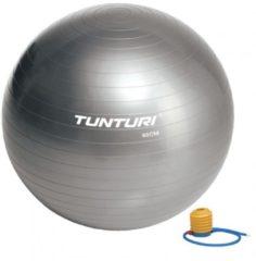 Grijze Tunturi Fitnessbal - Gymball - Swiss ball - Ã 65 cm - Inclusief pomp - Zilver