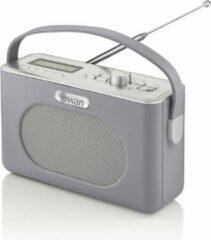 Swan Draagbare Retro Radio DAB+ - Grijs - met Bluetooth