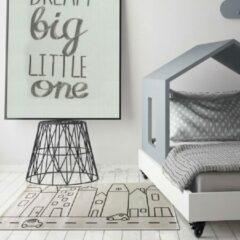Bruine Sens Kids Rugs Huisjes kindervloerkleed - kindertapijt - 67 x 110 cm - wasbaar - zacht - duurzame kwaliteit - speelgoed
