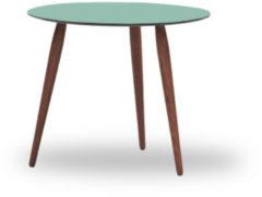 Bruunmunch Playround Beistelltisch Ø60 cm - 32 cm - Platte Dusty Jade - Beine Walnuss natur geölt