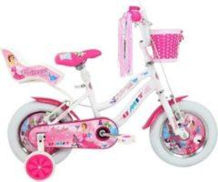 12 Zoll Mädchen Fahrrad Hoopfietsen Altec... weiß