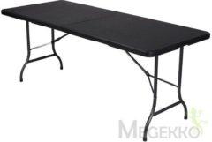 Zwarte Perel Vouwtafel camping/picknick - 180x 75x74cm - MDF