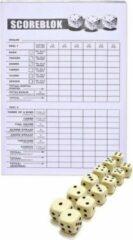 Haza Scoreblok Yahtzee - inclusief 12 dobbelstenen - dobbelspel
