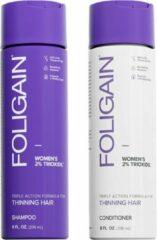Foligain Hair Care Set Vrouw - Bevat Foligain Shampoo & Foligain Conditioner voor vrouwen - tegen haaruitval