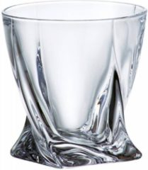 Bohemia Interactive Quadro whisky glazen - kristal - 6 stuks