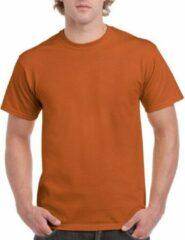 Gildan Oranjebruin katoenen shirt voor volwassenen L (40/52)