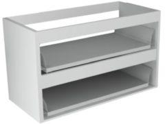 Sub 16 wastafelonderkast met 2 lades zonder fronten 70 x 52 cm, mat wit