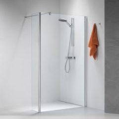 Douche Concurrent Inloopdouche Sealskin Get Wet Impact Zijwand 90x195cm Chroom/Zilver Hoogglans Helder Glas