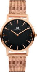 Roze Danish Design watches edelstalen dameshorloge London Black Rosegold Medium Mesh IV68Q1235