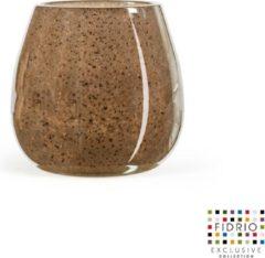 Merkloos / Sans marque Design vaas vase Fiore - Fidrio Bronze - Bloemenvaas glas, mondgeblazen - hoogte 15 cm
