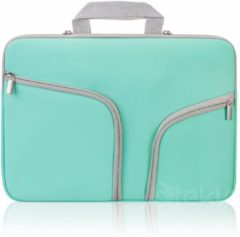 Groene Xssive Macbook Sleeve Voor MacBook Pro 13 / MacBook Retina 13 inch - Laptoptas - Laptop Sleeve met rits - Mint Groen