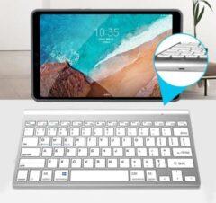 Case2go Universeel Draadloos Bluetooth Toetsenbord - Wireless Keyboard - Oplaadbaar toetsenbord - iOS, Android & Windows - Wit