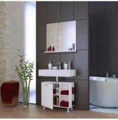 Bad Unterschrank Waschtisch Waschbeckenunterschrank Schrank Möbel 'Clevaso' 50 x 60 x 29 cm VCM Weiß