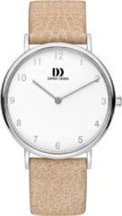 Zilveren Danish Design watches edelstalen dameshorloge Sydney Silver Tan IV26Q1173