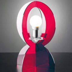 Vesta Abat-Jour in plexiglas colorato trasparente BASCO 21.5xh30 cm in rosso trasparente