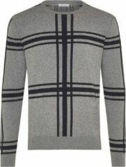 Grijze TRESANTI Pullover - Geruite pullover - Pullover katoen/cashmere