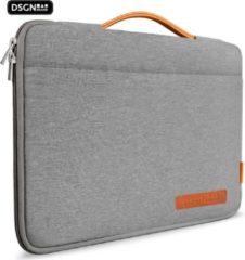 Oranje DSGN Laptop & MacBook 14 inch Laptoptas / Grijs - Laptop Case/Sleeve/Hoes - Laptophoes - Waterdicht - Extra vak - Handvat