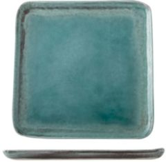 Blauwe Cosy & Trendy Isabeau Dessertbord - 21.5 cm x 21.5 cm - 6 stuks