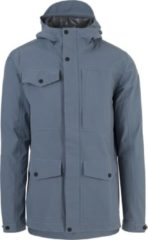 Blauwe AGU Urban Outdoor Pocket 2.5 Layer Regenjas - Mannen - Dusty Blue