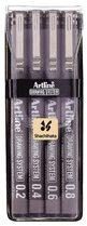 Afbeelding van Artline Fineliner Drawing System etui van 4 stuks: 0,2 - 0,4 - 0,6 en 0,8 mm