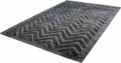 Antraciet-grijze Kayoom Luxury Vloerkleed 200 x 290 cm Grijs/Antraciet
