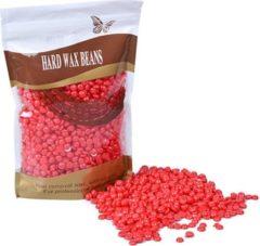 MEGA BEAUTY SHOP® Wax beans 500gr. Strawberry- Hard wax beans- Hard wax beans- Ontharingswax- Harskorrels- Harde hars- Ontharingshars- Harsen- Waxen- Hars parels